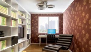 精致时尚的都市风格书房设计装修效果图欣赏