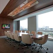 视野宽广的会议室
