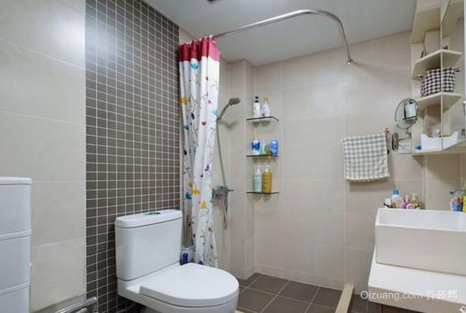 恬淡有爱的日式风格卫生间设计装修效果图欣赏