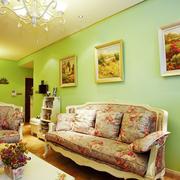 客厅欧式田园沙发