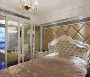 温暖大气卧室床头软包背景墙装修效果图