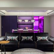 餐厅紫色浪漫展示