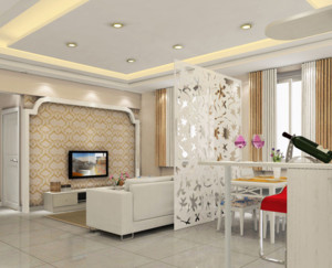 时尚美观的客厅隔断装修效果图鉴赏