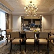 古典餐厅吊灯图片