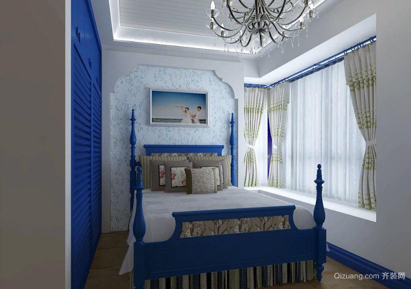 小户型时尚浪漫地中海风格卧室装修效果图