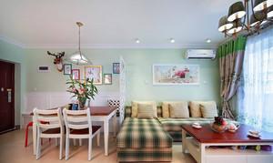 悠闲舒畅的乡村田园风格客厅装修效果图