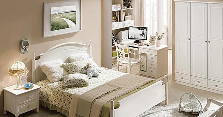 追求自然和谐的韩式风格卧室背景墙装修效果图