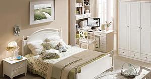 清新绿色自然的卧室