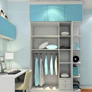 蓝色儿童房衣柜