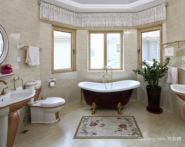 欧式古典风格卫生间设计装修效果图欣赏