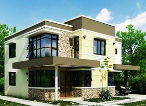 2015暖洋洋的现代农村别墅装修效果图
