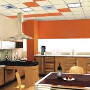 色彩亮丽的厨房吊顶