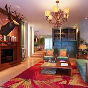 美式客厅装潢欣赏