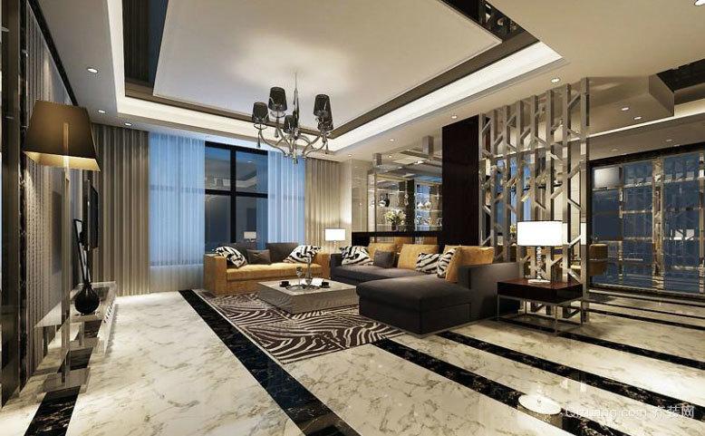90平米个性突出的后现代风格客厅装修效果图