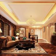 温暖优雅的客厅吊顶