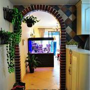 混搭风格的客厅鱼缸
