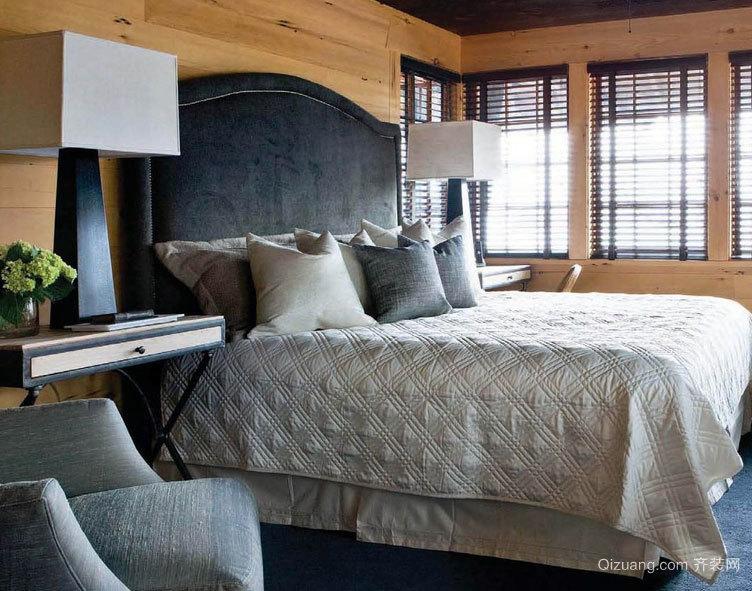 2015高贵典雅的现代卧室实木床装修效果图鉴赏