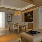 餐厅壁柜式酒柜设计