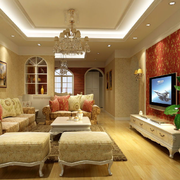 温婉田园客厅设计