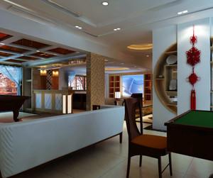 90平米稳重大气的现代中式客厅装修效果图鉴赏