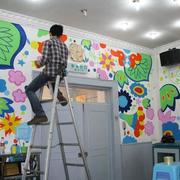 色彩明亮的壁画
