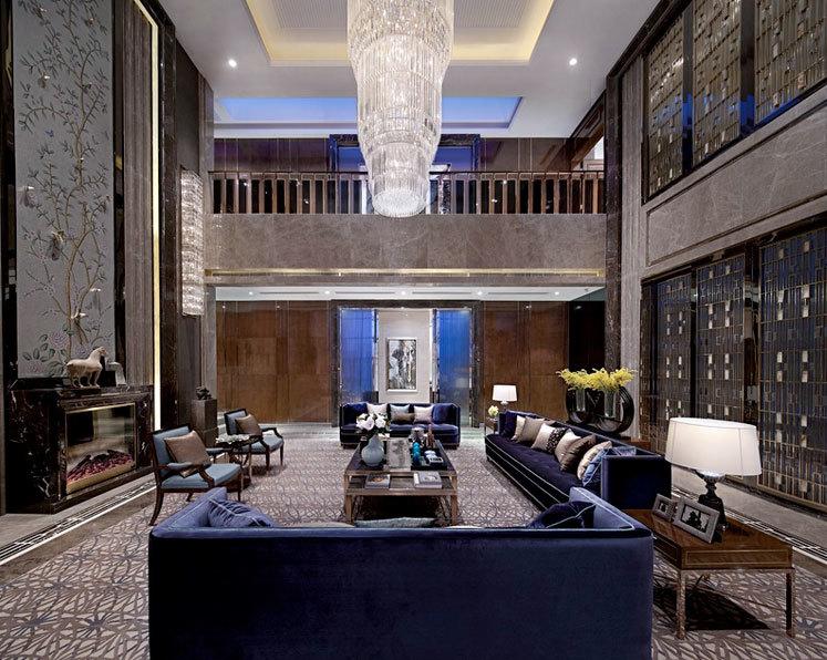 大户型现代欧式客厅水晶灯装修效果图