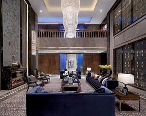 复式楼客厅水晶灯
