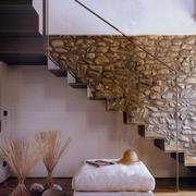 阁楼楼梯文化砖背景墙