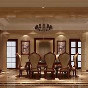 豪华温馨的别墅餐厅