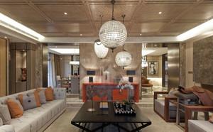 绮丽混搭东南亚风格客厅实景装修效果图