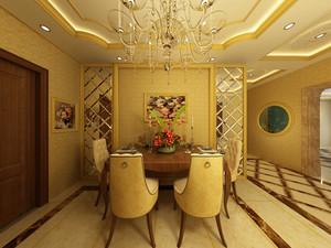 金色奢华的餐厅