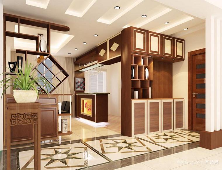 淳朴精致的东南亚风格木质鞋柜设计装修效果图欣赏