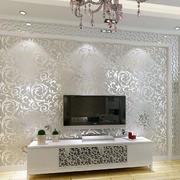 白色电视墙花纹