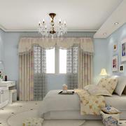 卧室天蓝色墙面