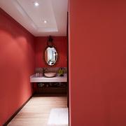 卫生间红褐色墙面