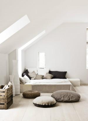 白色干净现代阁楼