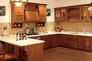90平米品味高贵的欧式厨房吧台设计效果图鉴赏