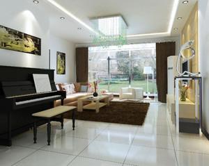 简约现代公寓客厅