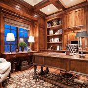 美式风格书房书柜