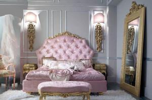 两室一厅浪漫主义巴洛克风格卧室装修效果图