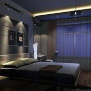 中性冷色调卧室