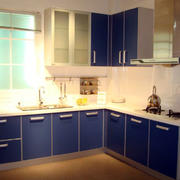 精致厨房蓝色橱柜