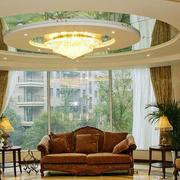 别墅客厅玻璃吊顶