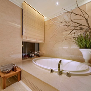 卫生间盆栽装饰