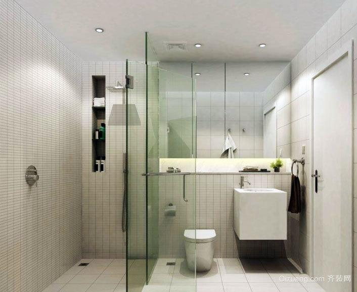 现代简约风格干湿分离卫生间装修效果图