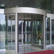 经济现代化大厅旋转门