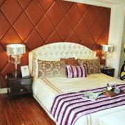 小卧室床软包背景墙