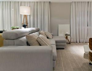 单身公寓畅快舒心的时尚简欧客厅灯装修效果图
