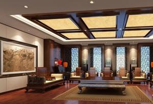 中式古典展厅装修效果图