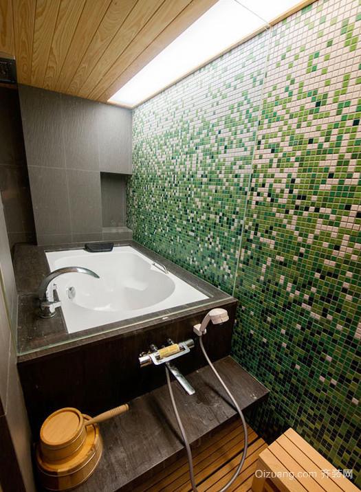 动感绿色卫生间装修效果图